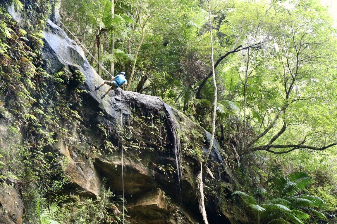 Abseiling in the Watagans